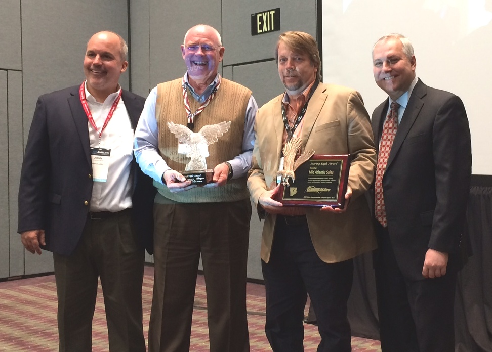 General Filters, Inc. Presents the 2015 Soaring Eagle Award to Mid Atlantic Sales  - Stay in touch with generalaire by reading the latest news, announcements and articles with general filters - Soaring_Eagle_Award_Mid_Atlantic_Sales3