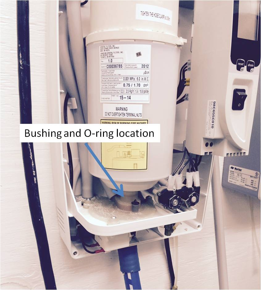 Humidifiers - General Filters, Inc. - Steam_Unit_Depicting_Bushing_Location